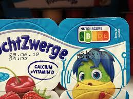 étiquette nutri score